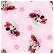 Disney Minnie Floral Badges Fabric