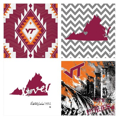 Virginia Tech Hokies 4pk Spirit Coaster