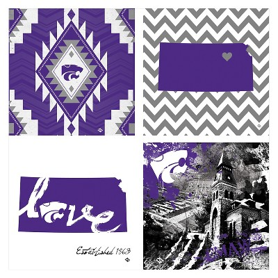 Kansas State Wildcats 4pk Spirit Coaster