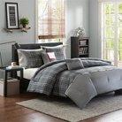 Chet 5 Piece Comforter Set - Grey (Full/Queen)