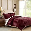 Dobby Stripe Mink Reverse to Berber Comforter Mini Set