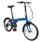 Durban Bay 6  Six Speed Folding Bike - Blue