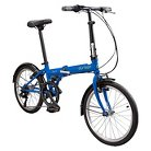 Durban Bay 6  Six Speed Folding Bike - Blue