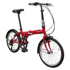 Durban Bay 6  Six Speed Folding Bike - Red