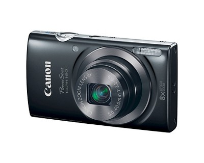 Canon PowerShot Elph 160 20MP Compact Digital Camera with 8X Optical Zoom - Black (0134C001)