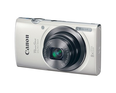 Canon PowerShot Elph 160 20MP Compact Digital Camera with 12X Optical Zoom - White (0140C001)