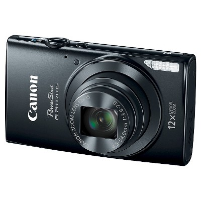 Canon PowerShot Elph 170 20MP Compact Digital Camera with 12X Optical Zoom - Black (0114C001)