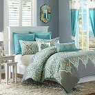 Naomi 5 Piece Comforter Set - Teal (Twin)