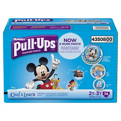 Huggies Pull-ups Boys Cool & Learn Training Pants Super Pack, Size 2T-3T