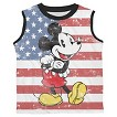 Disney® Mickey Mouse Toddler Boys' American Flag Muscle Tank - White