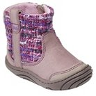 Infant Girl's Surprize by Stride Rite Adora Sweater Fashion Boots - Grey & Purple