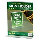 NuDellAcrylic Sign Holder - 8 1/2 x 11 - Clear