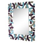 Lazy Susan 44 in. Colored Glass Frame Mirror