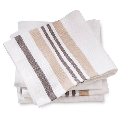 Dishcloths 4-Pack Tan Basket Weave - Threshold™