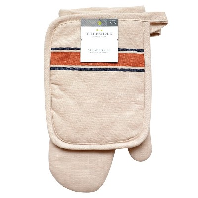 Threshold™™ Striped Oven Mitt/Pot Holder
