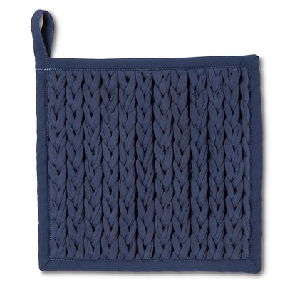 Threshold™™ Blue Braided  Pot Holder