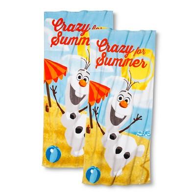 Disney® Frozen Olaf 2-pk. Beach Towel - Multi-Colored