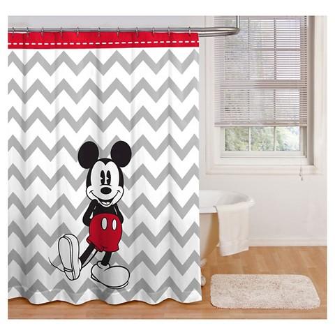Disney 174 mickey mouse chevron shower curtain gr target