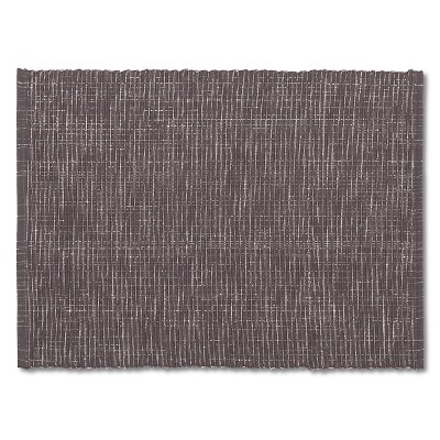 Placemat Gray Metallic Ribbed - Threshold™