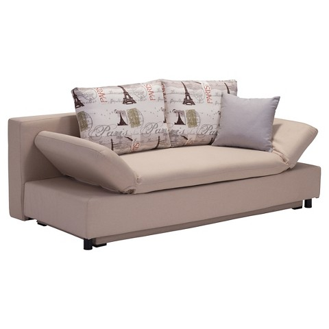 Sleeper Sofa Beige Zuo Tar