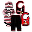 Newborn Boys' 5 Piece Mickey Mouse Gift Set