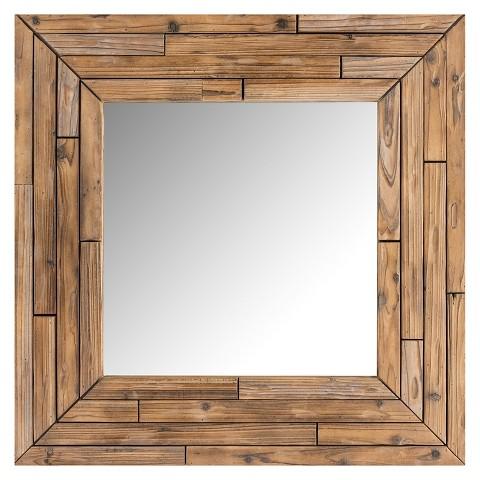 Surya Decorative Wall Mirror - Brown