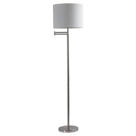 Biro floor lamp silver target for Adesso hayworth floor lamp silver