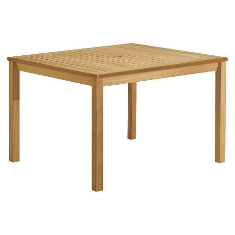 hton wood rectangular patio dining table target