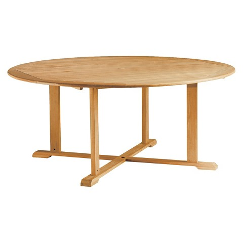 Oxford Round Wood Patio Dining Table : Target