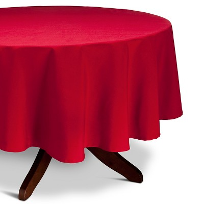 "Threshold™ Red Tablecloth 70"" Round"