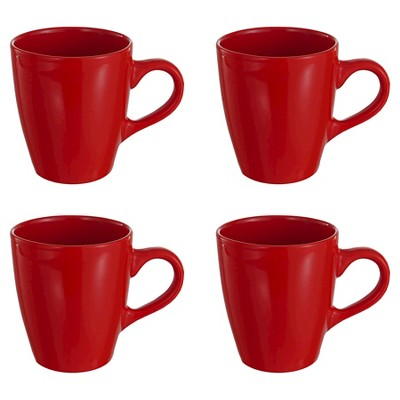 American Atelier Bistro Mugs Set of 4 - Red (12 oz)