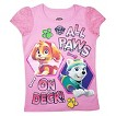 Paw Patrol Toddler Girls' All Paws On Deck Tee - Bubblegum Pink