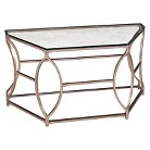 Magnussen Nevelson Demilune Sofa Table - Antique Silver