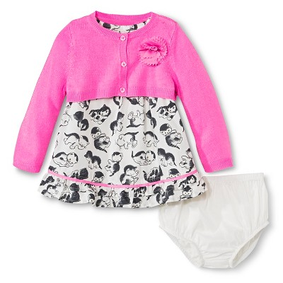Female Top And Bottom Sets Genuine Kids 6-9 M Peppy Pink (nylon Only)