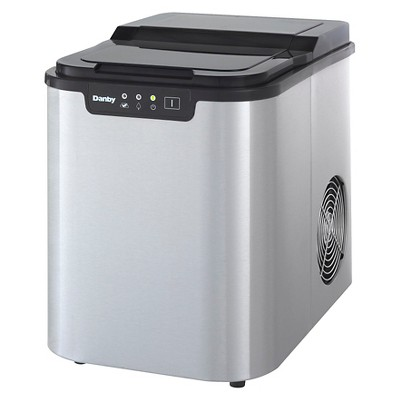 Danby Portable Ice Maker - Stainless Steel