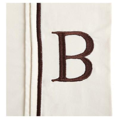 Monogram Letter B Pillowcase 2 Pack - Ivory (Standard)