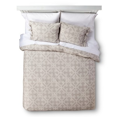 homthreads™ Mara Duvet Set - Tan/Cream (King)