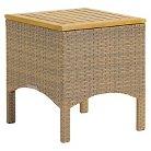 Torbay Wicker/Teak Patio End Table