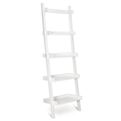 Ecom Bookcase White 5 Shelf