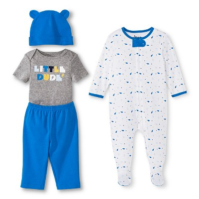 Newborn Boys' Top & Bottom Set - AC Blue 0-3 M