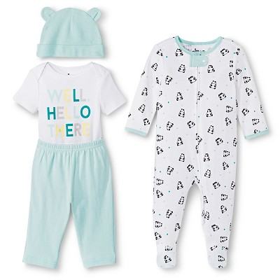 Circo™ Baby 4 piece Top & Bottom Set - Well Hello There 3-6M
