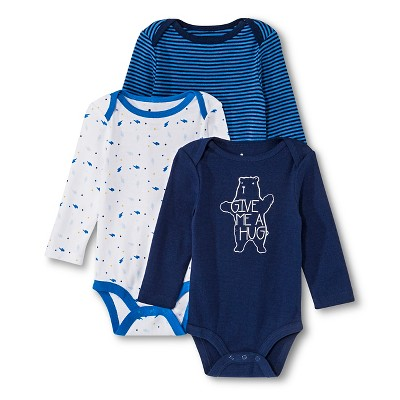 Newborn Boys' Bodysuit - Nighttime Blue 3-6 M