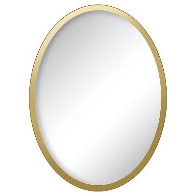 Locker Gold Oval Mirror