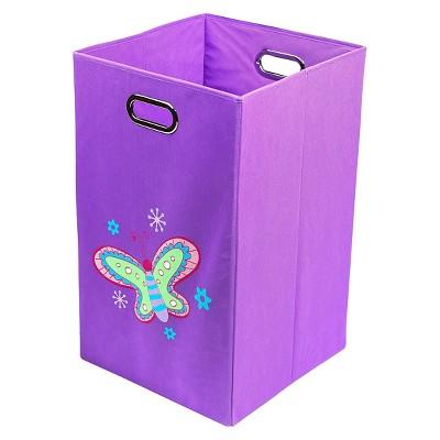 Nuby Butterfly Folding Laundry Bin - Purple