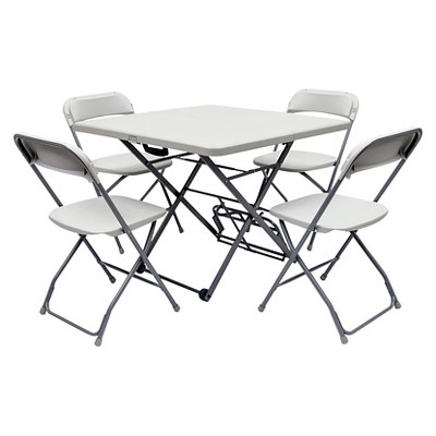 Roll-X Fold & Roll 5 Piece Table and Chair Set