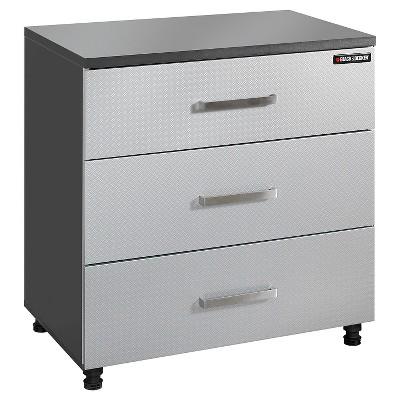 Black & Decker Garage 3-Drawer Base Storage Cabinet - Charcoal Stipple