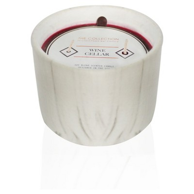 Urban Collection Silver Rain Marble Jar Candle