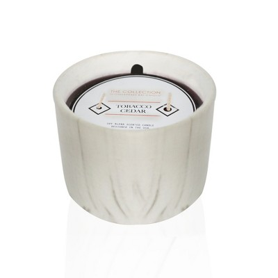 Urban Collection Leather Mahogany Marble Jar Candle