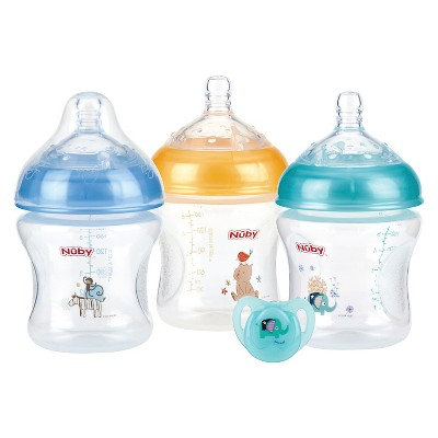 Nuby Baby Bottle Set Multi-colored