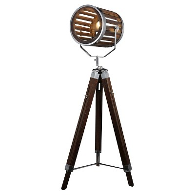 A&B Home Tripod Floor Lamp - Brown